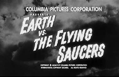 Earth vs the Flying Saucers title