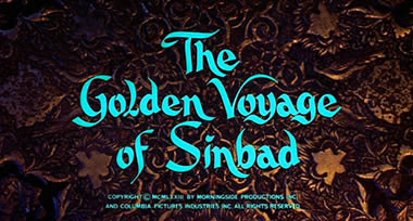 Golden Voyage of Sinbad title