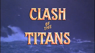 The Clash of Titans title
